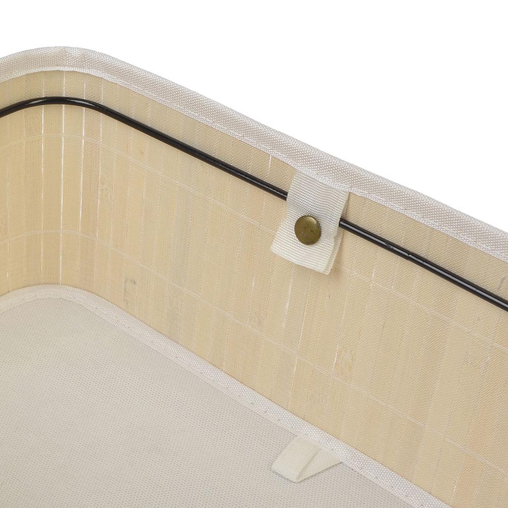 Коробка для хранения складная, бамбук, 40х30х18см белый, VETTA