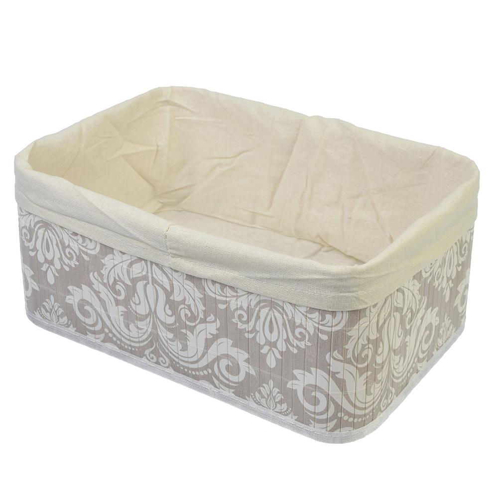 VETTA Коробка для хранения складная, бамбук, 33x23x14см Вензель