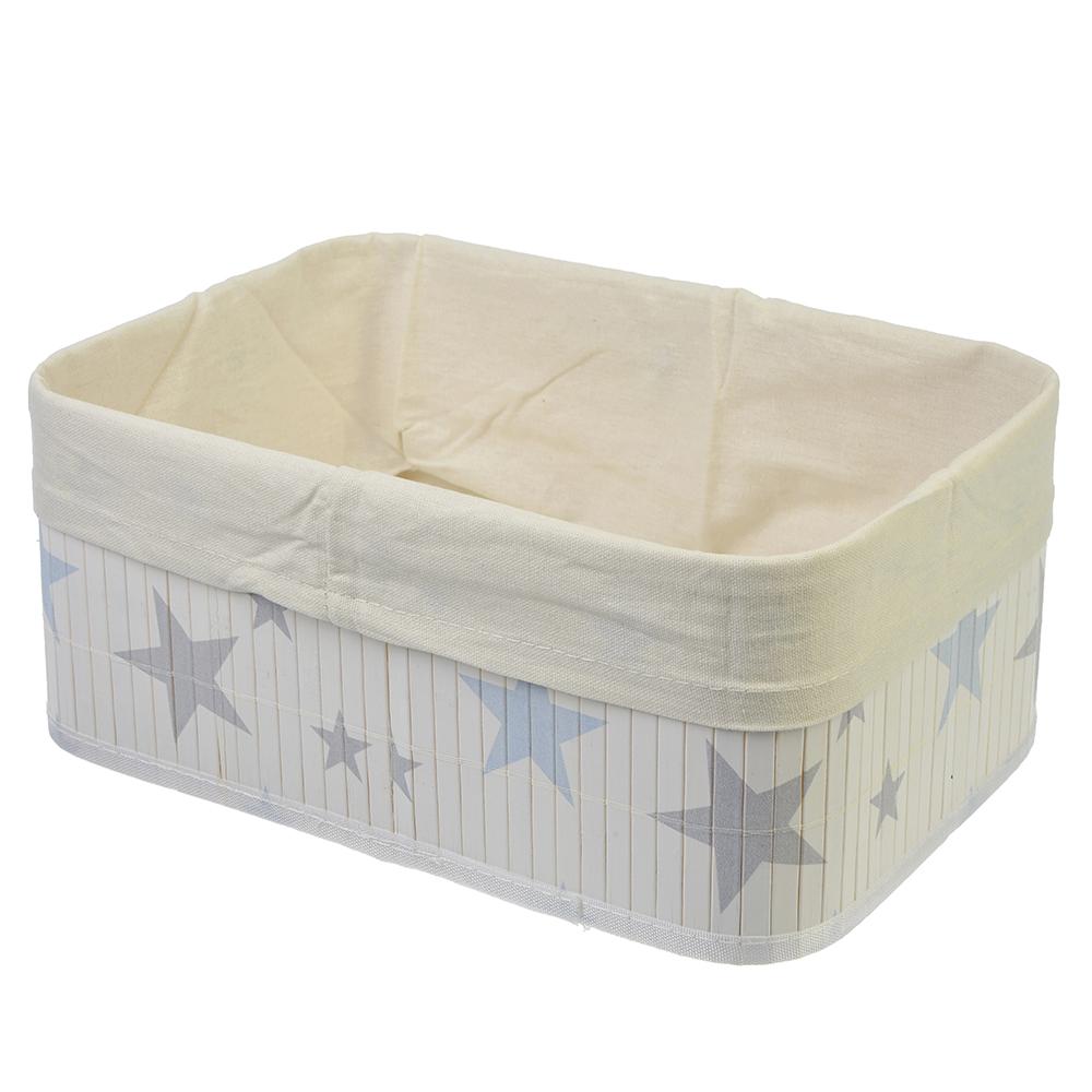"""Коробка для хранения складная, бамбук, 33x23x14см, VETTA """"Звёзды"""""""