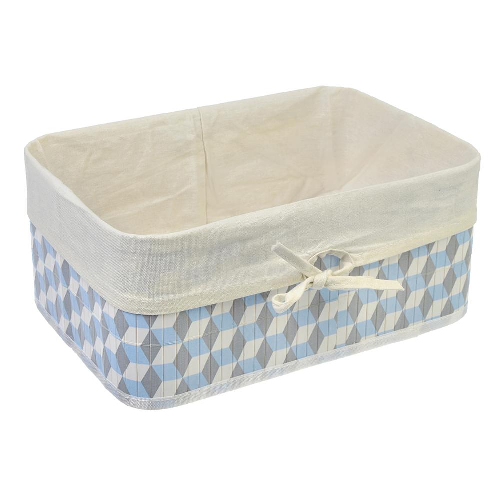 """Коробка для хранения складная, бамбук, 33x23x14см VETTA """"Кубы"""""""