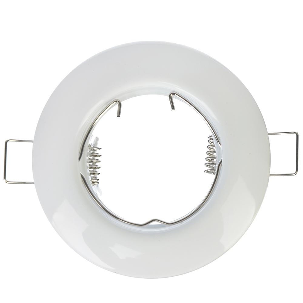 FORZA Светильник встраиваемый №2 MR16 цоколь GU 5.3 металл d80мм, белый, круглый