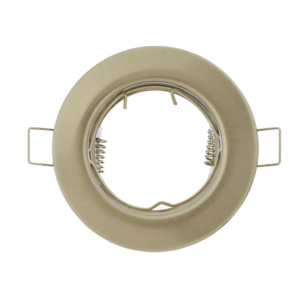 FORZA Светильник встраиваемый № 7 MR16 цоколь GU 5.3 металл d80мм, серебристый глянцевый