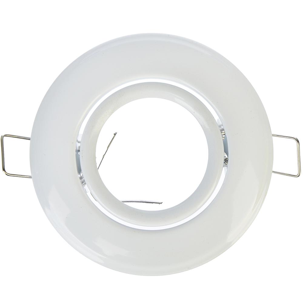 FORZA Светильник встраиваемый №3 с регулируемым углом лампа MR16 цоколь GU 5.3 металл d90мм, белый