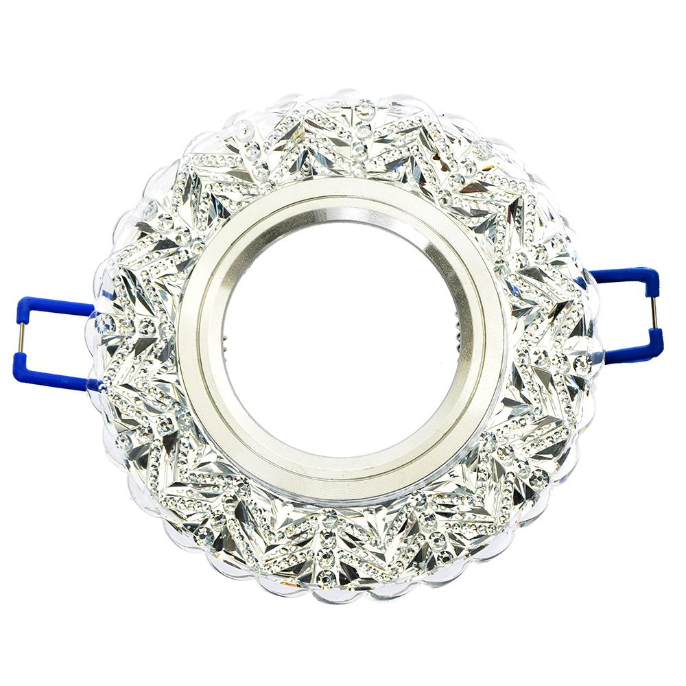 FORZA Светильник встраиваемый №10 лампа MR16 цоколь GU 5.3 стекло d90мм