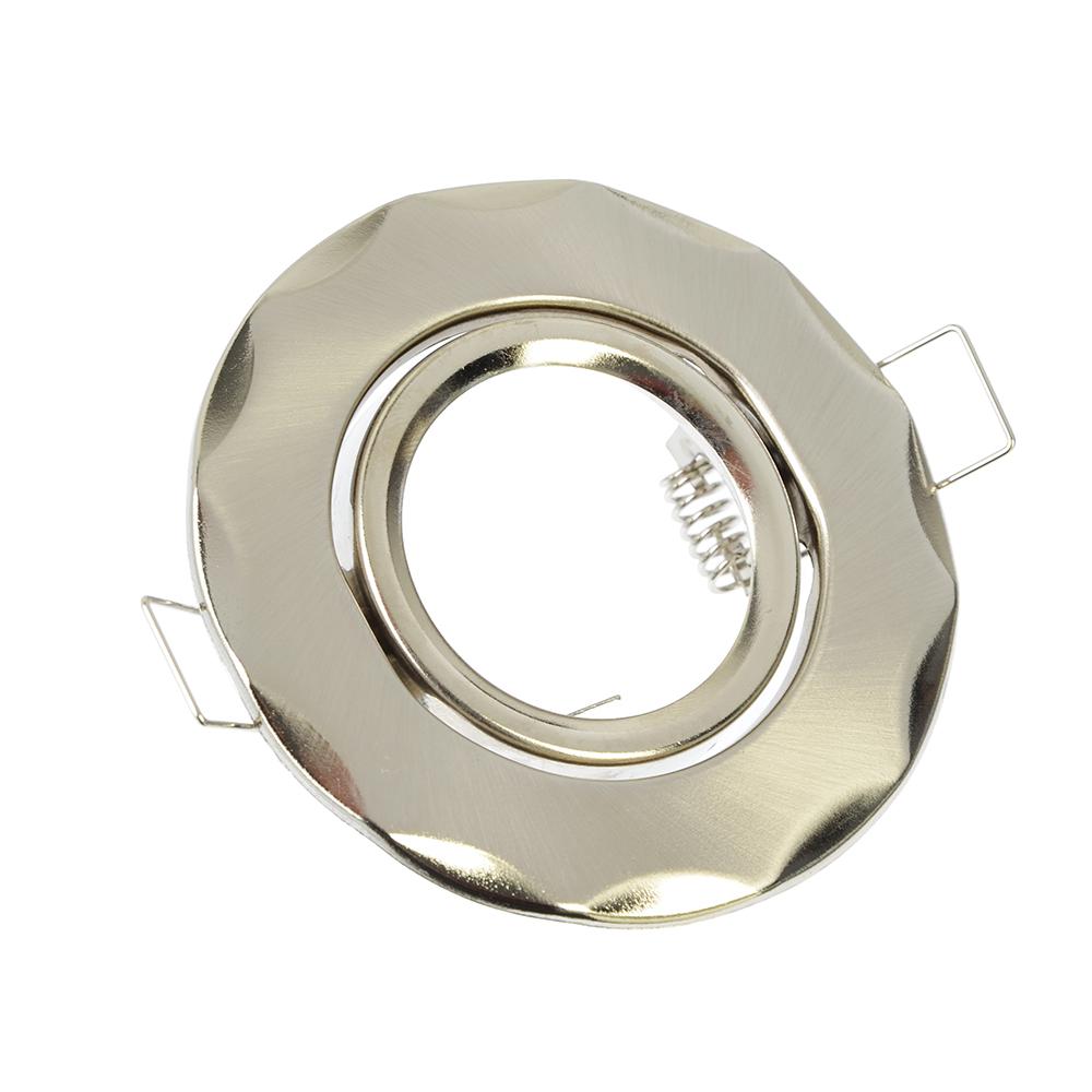 FORZA Светильник встраиваемый №9 Волнообразный, с рег. угл., лампа MR16, GU 5.3 металл d90, круглый