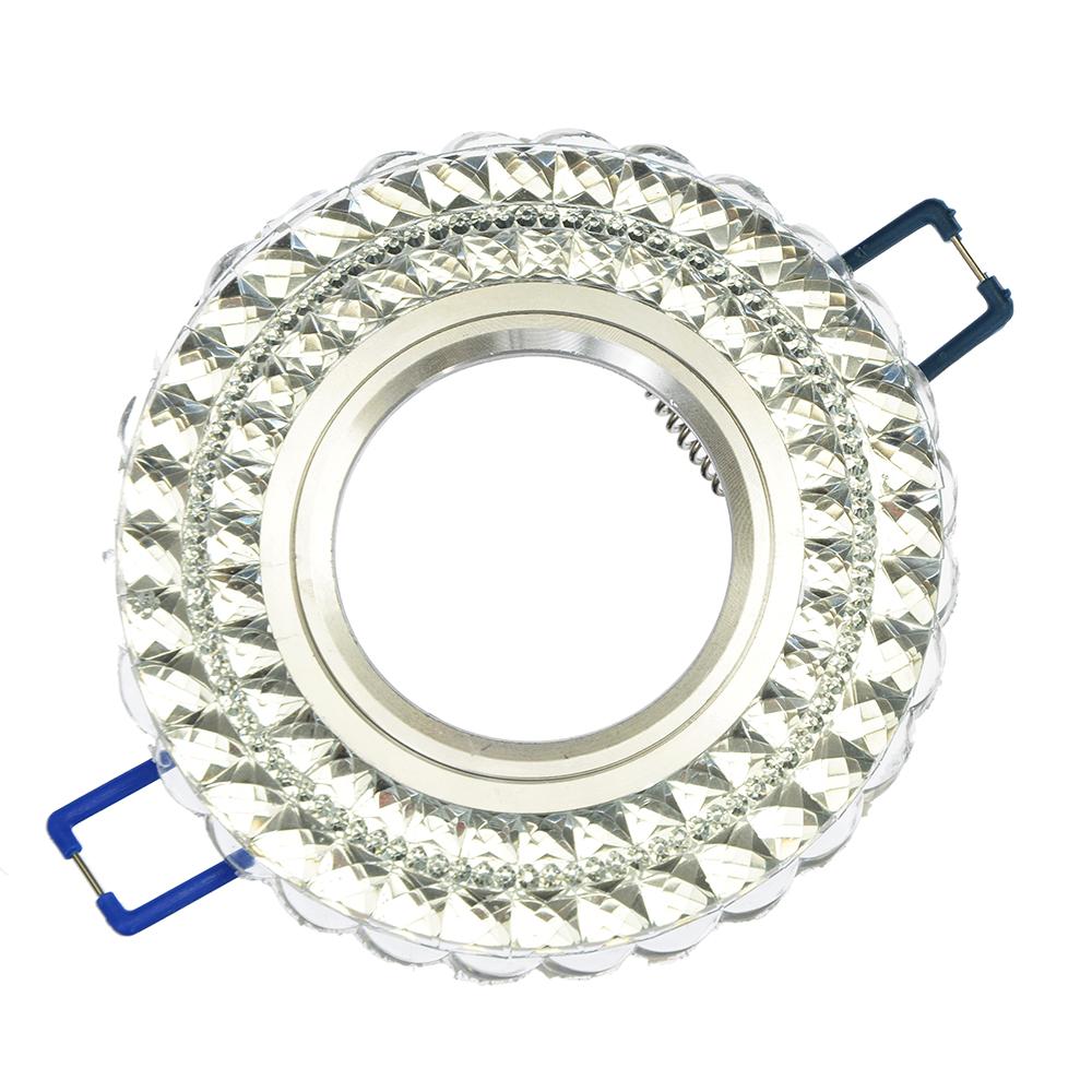 FORZA Светильник встраиваемый №11 лампа MR16 цоколь GU 5.3 стекло d90мм, узор