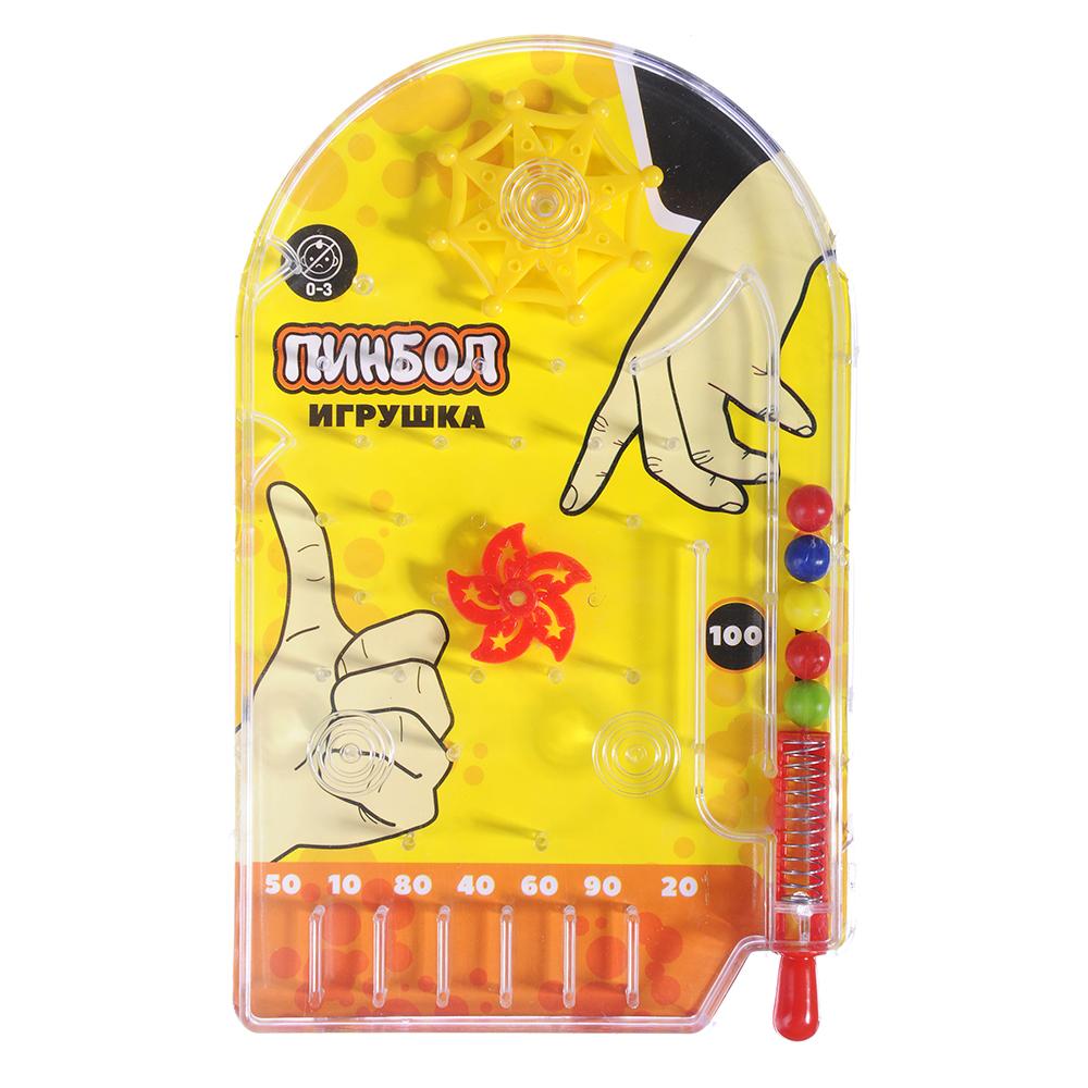 """Игрушка """"Пинбол"""", пластик, 10х15,8см, 3 цвета"""