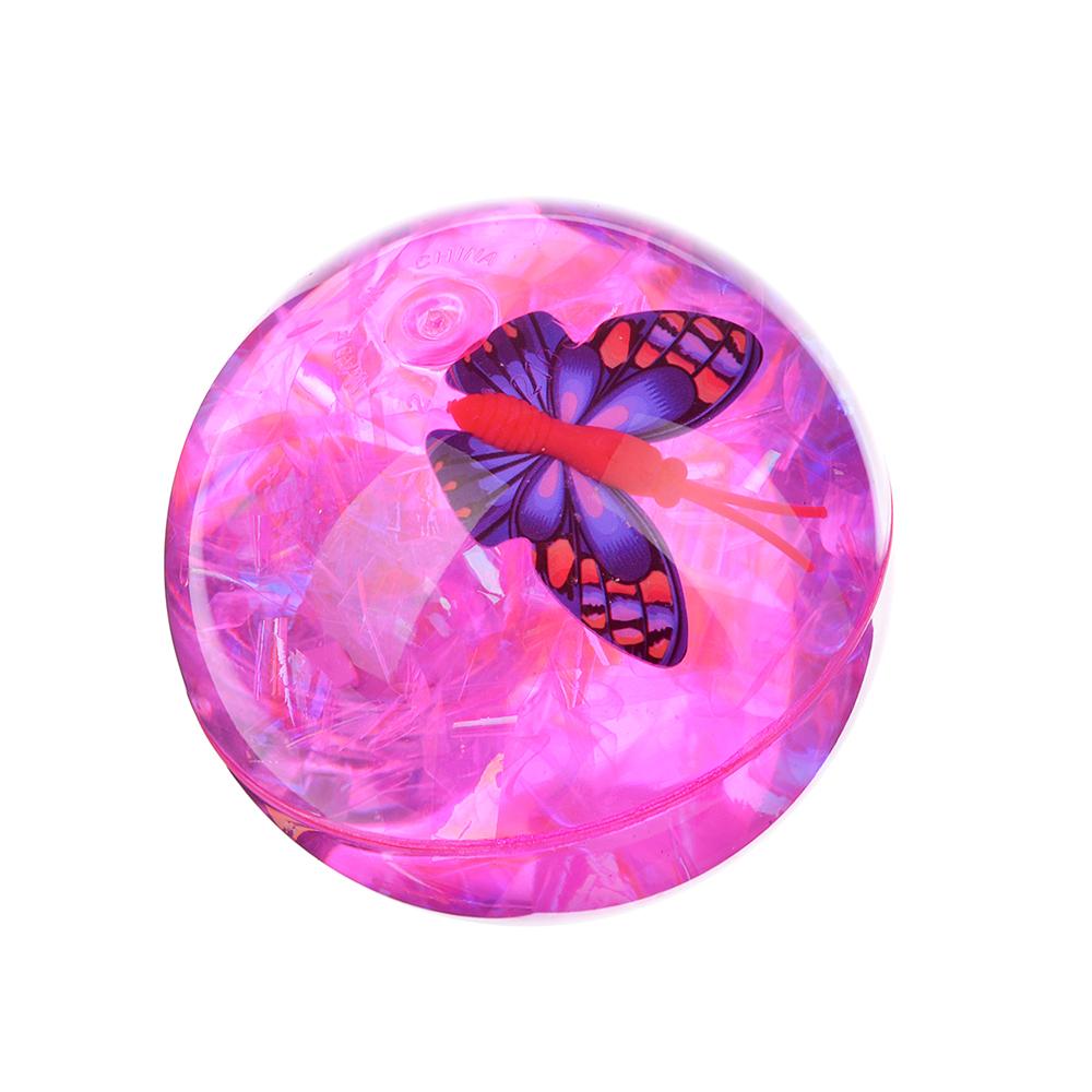 """Мяч световой """"Попрыгунчик прозрачный"""", ПВХ, 6,5см, 4 цвета"""