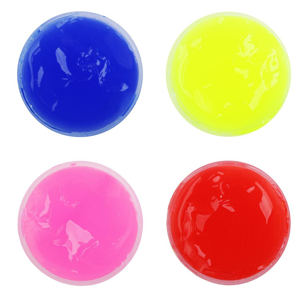 "LASTIKS Игрушка-лизун в баночке жидкий ""Бочка"", полимер, 4,5х3,5см, 4 цвета"
