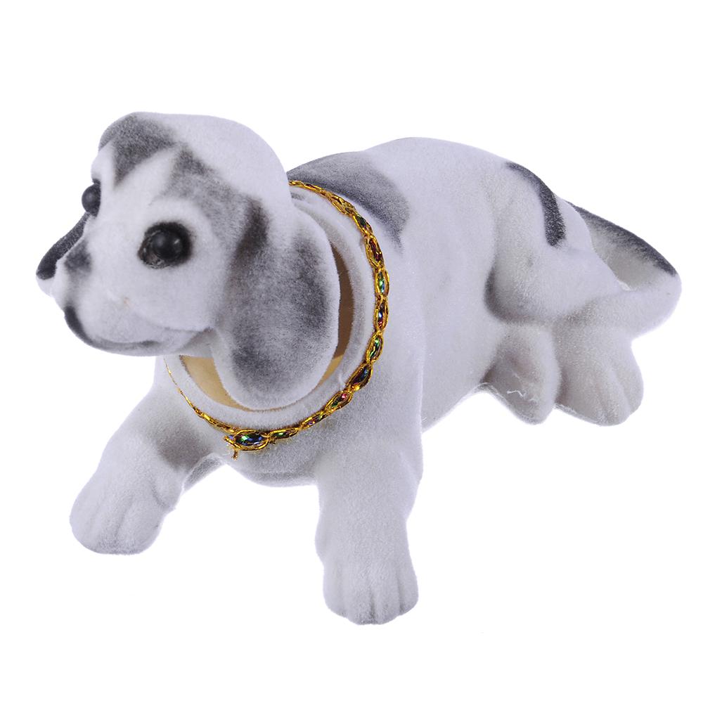 NEW GALAXY Собачка на приборную панель, ворс, пластик, 13x8см