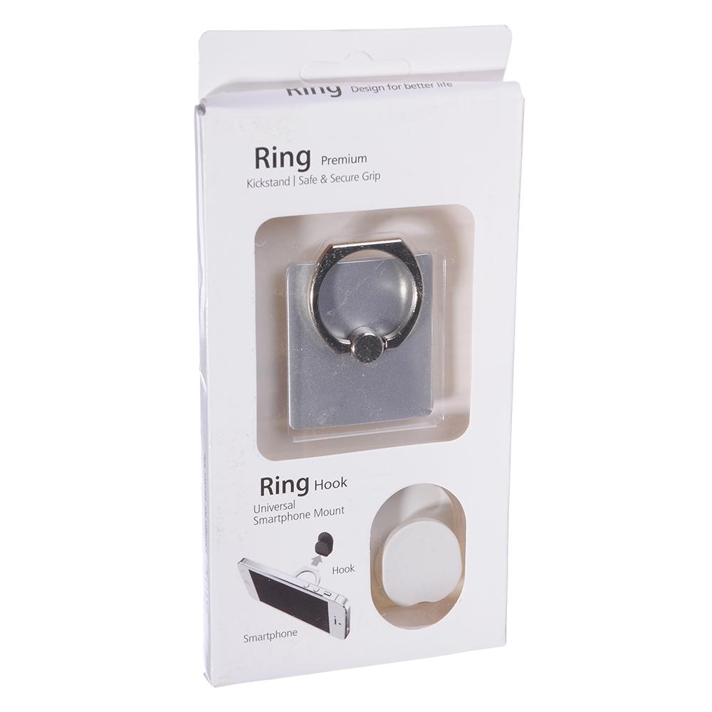 NEW GALAXY Кольцо-подставка для смартфона + крючок-фиксатор, 4x3,5x0,2см