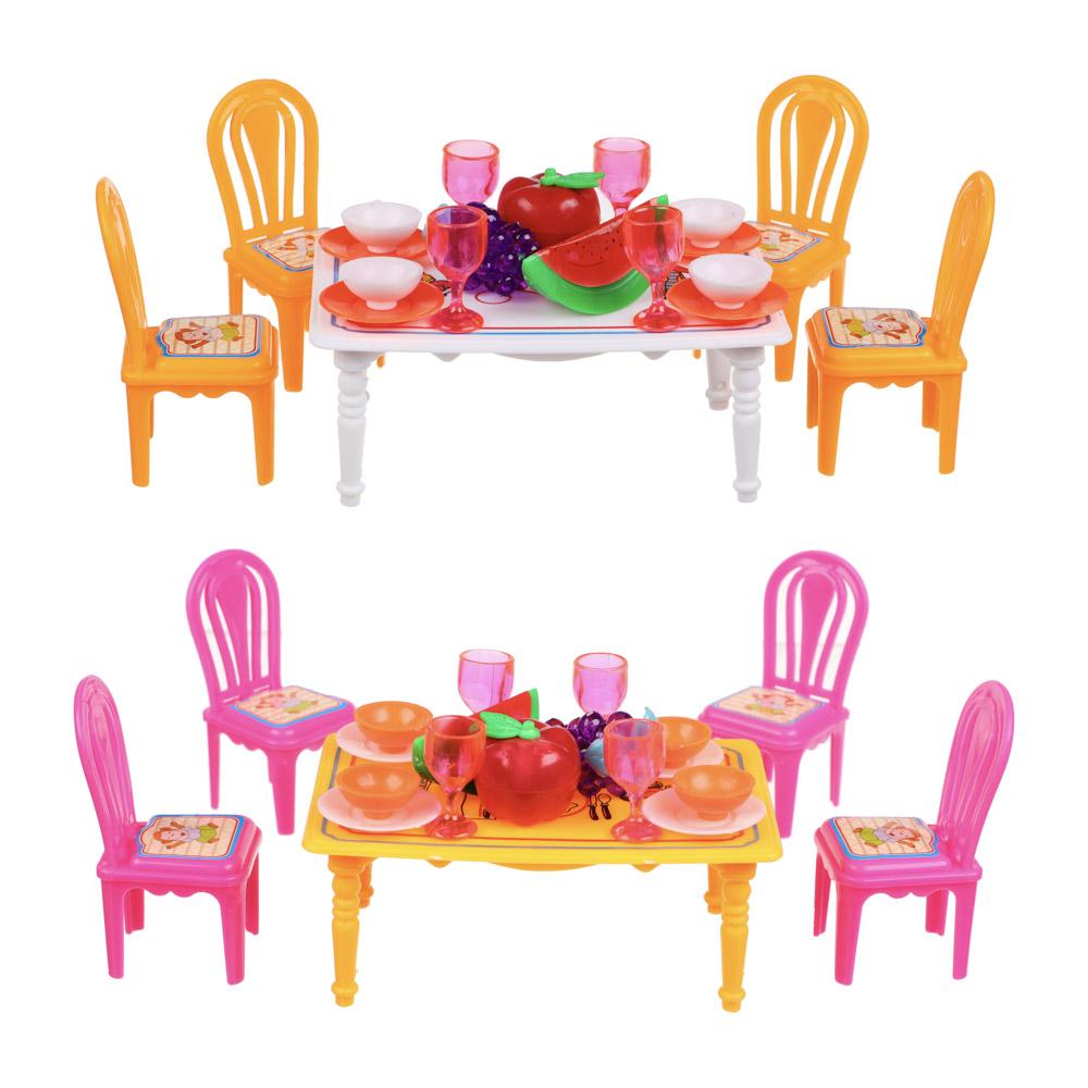 ИГРОЛЕНД Набор мебели и посуды для кукол, пластик, 13,5х11х10см, 967