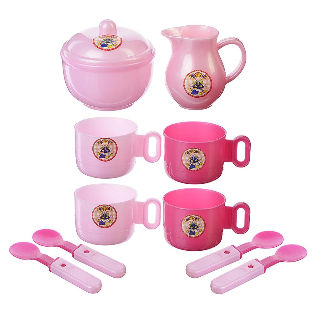 """ИГРОЛЕНД Игровой набор """"Чайный сервиз"""", пластик, 30х22,5х8см, 2 дизайна, LN655A/B"""