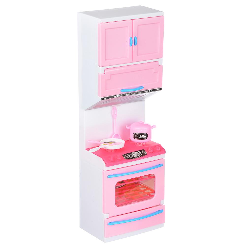 ИГРОЛЕНД Мебель для кукол Кухня, пластик, 15-17,5х8-9х36см, 3-6 дизайнов
