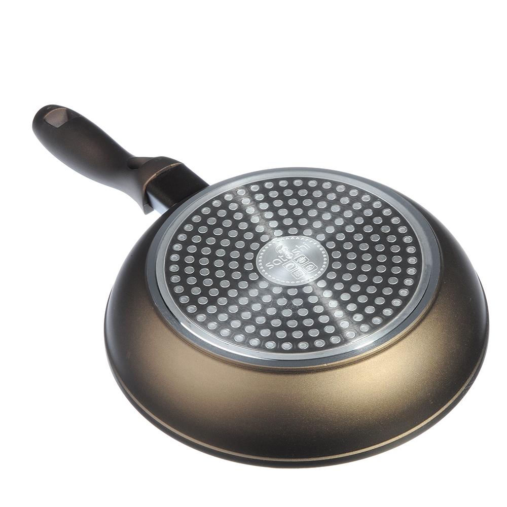 Сковорода литая d.20 см SATOSHI Мастер, антипригарное покрытие, индукция
