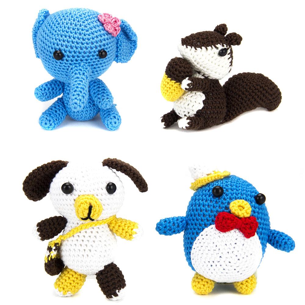 Набор для вязания игрушки, нитки мулине, 20,5х14,5см, 4 дизайна, #1