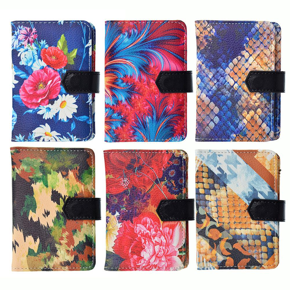 Визитница искусств.кожа, на 24 карты, 7,7х11см, 1-6 дизайнов, #4