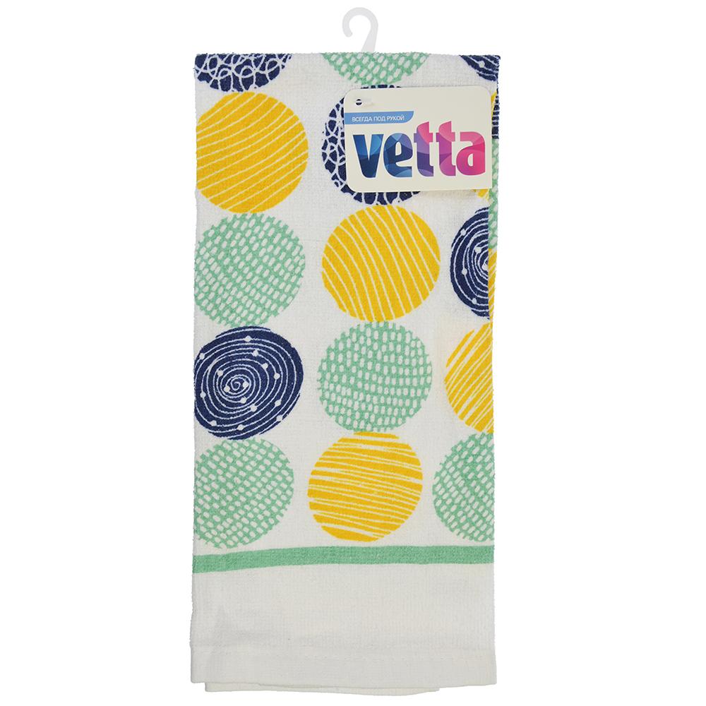 Полотенце кухонное, 80% хлопок 20% полиэстер, 38x63см, VETTA