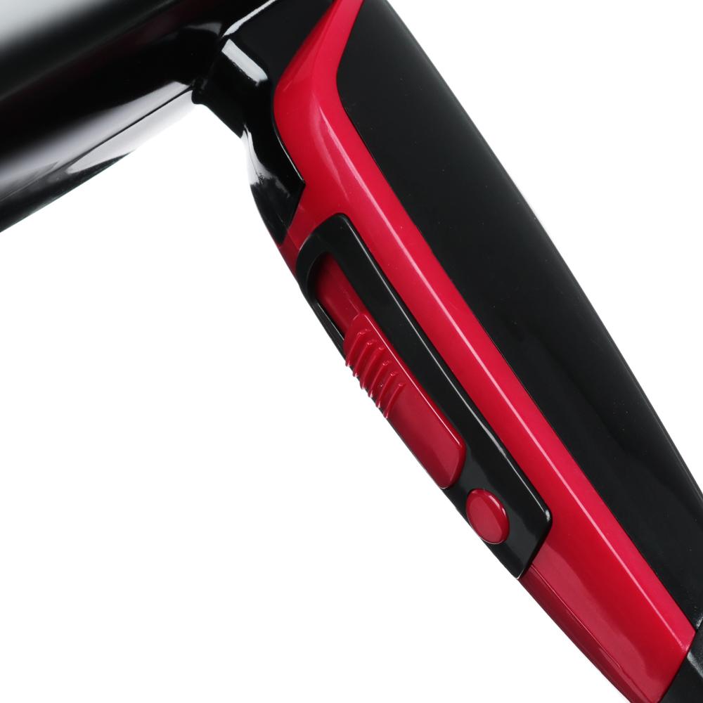 Фен для волос LEBEN 1200 Вт, 2 скорости, черный/розовый