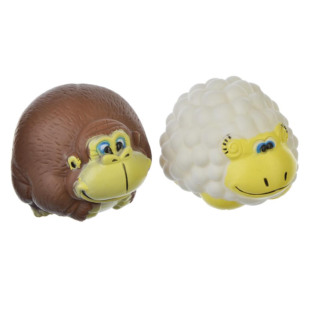 """Игрушка-пищалка """"Животное"""", резина, 8х7,5х6см, 3 дизайна"""