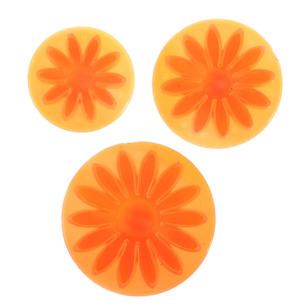 """VETTA Набор формочек для печенья с поршнем 3шт, """"Подсолнухи"""", пластик"""