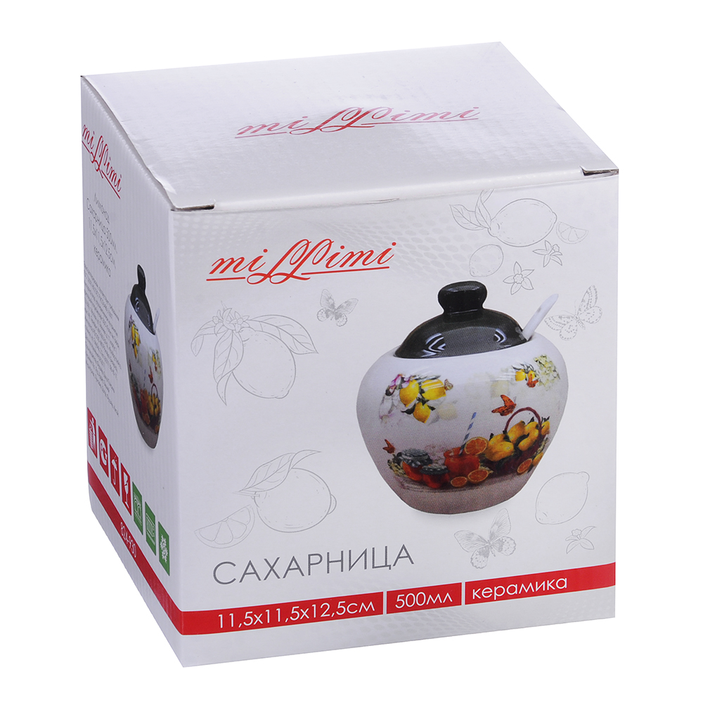 MILLIMI Лимонад Сахарница 500мл, 11,5x11,5x12,5см керамика