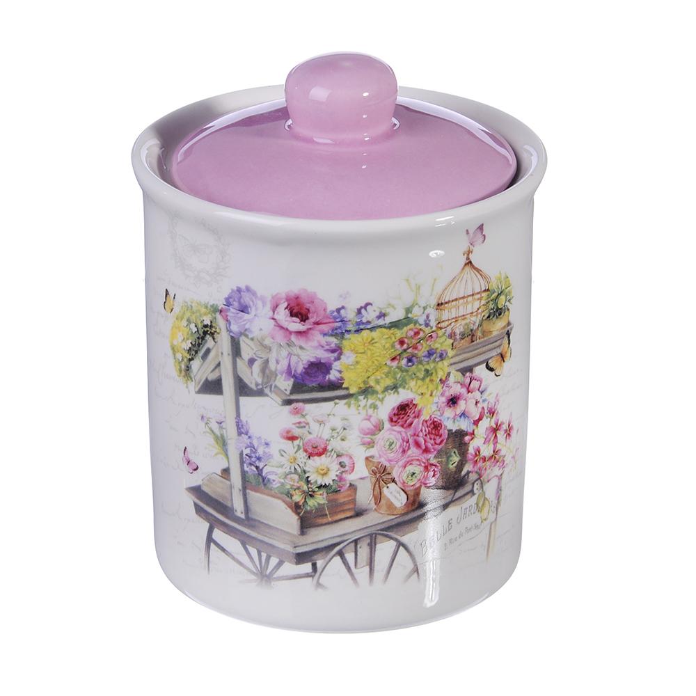 MILLIMI Цветник Банка для сыпучих продуктов, 550мл, керамика