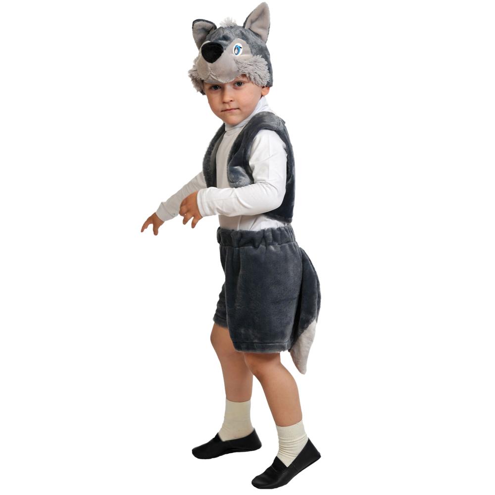 """Костюм карнавальный 3-5 лет, рост 92-116 см, плюш, """"Волчонок"""""""