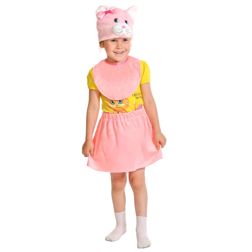 """Костюм карнавальный 3-5 лет, рост 92-116 см, плюш, """"Кошечка розовая"""""""