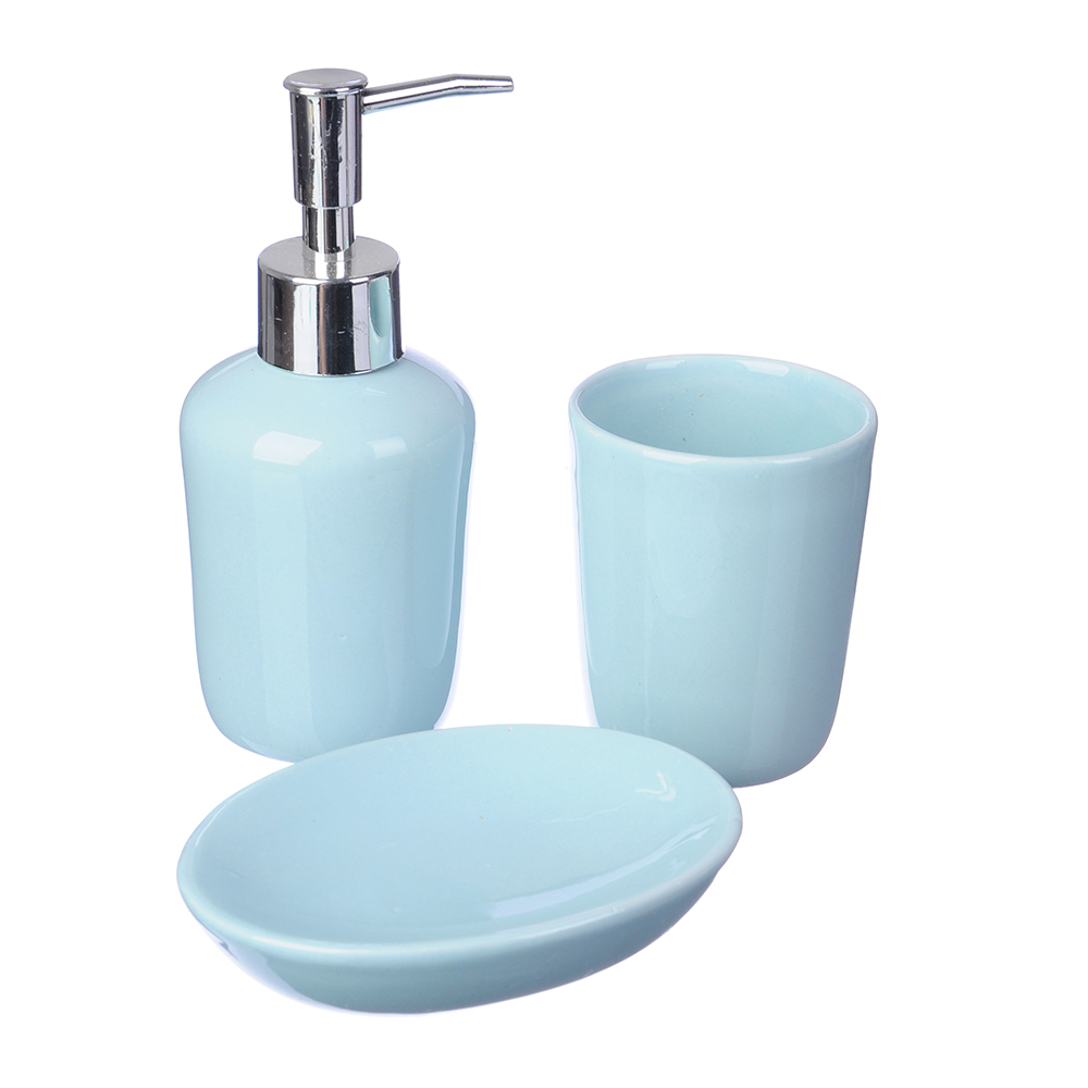 Набор для ванной 3 предмета, керамика, Аква