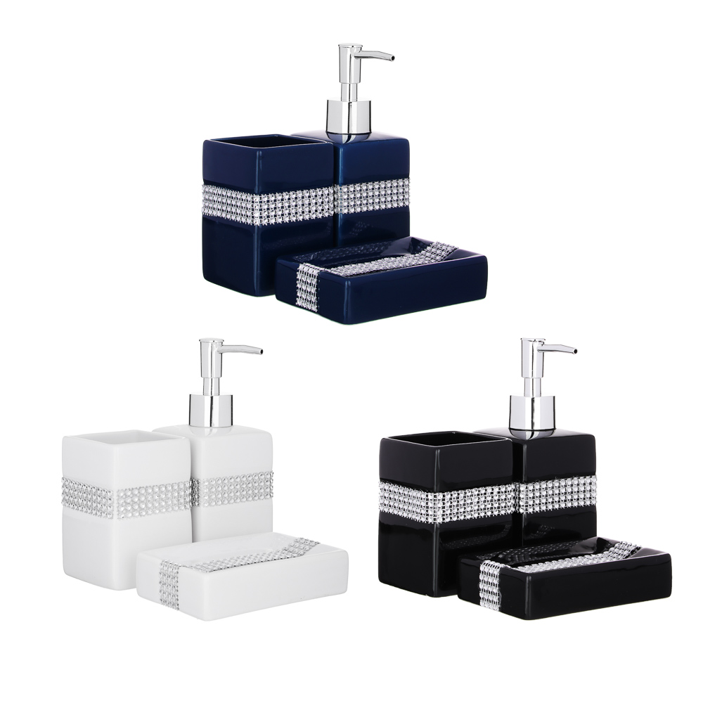 Набор для ванной 3 предмета, керамика, Сити