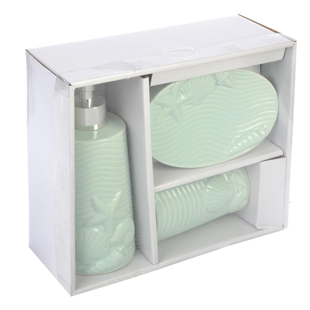 Набор для ванной 3 предмета, керамика, Морская фантазия