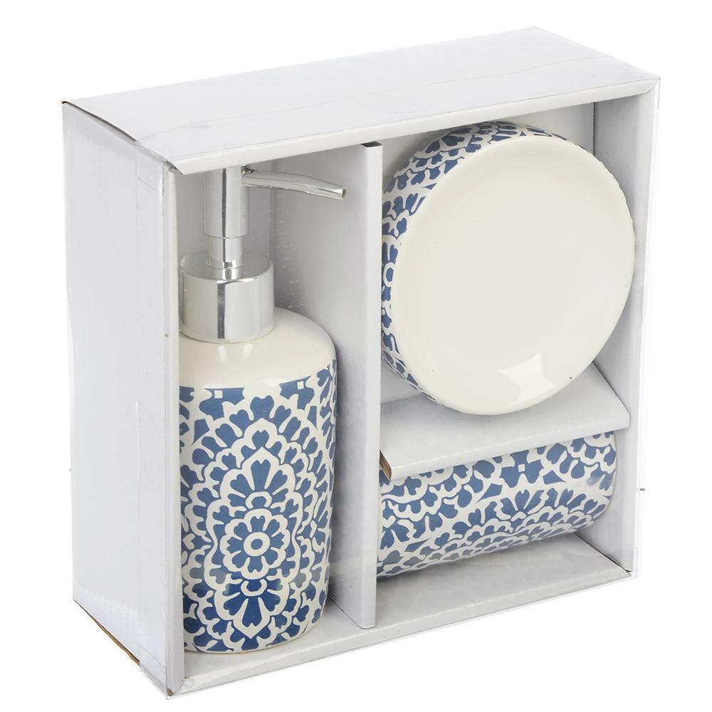 Набор для ванной 3 пр., керамика, Орнамент