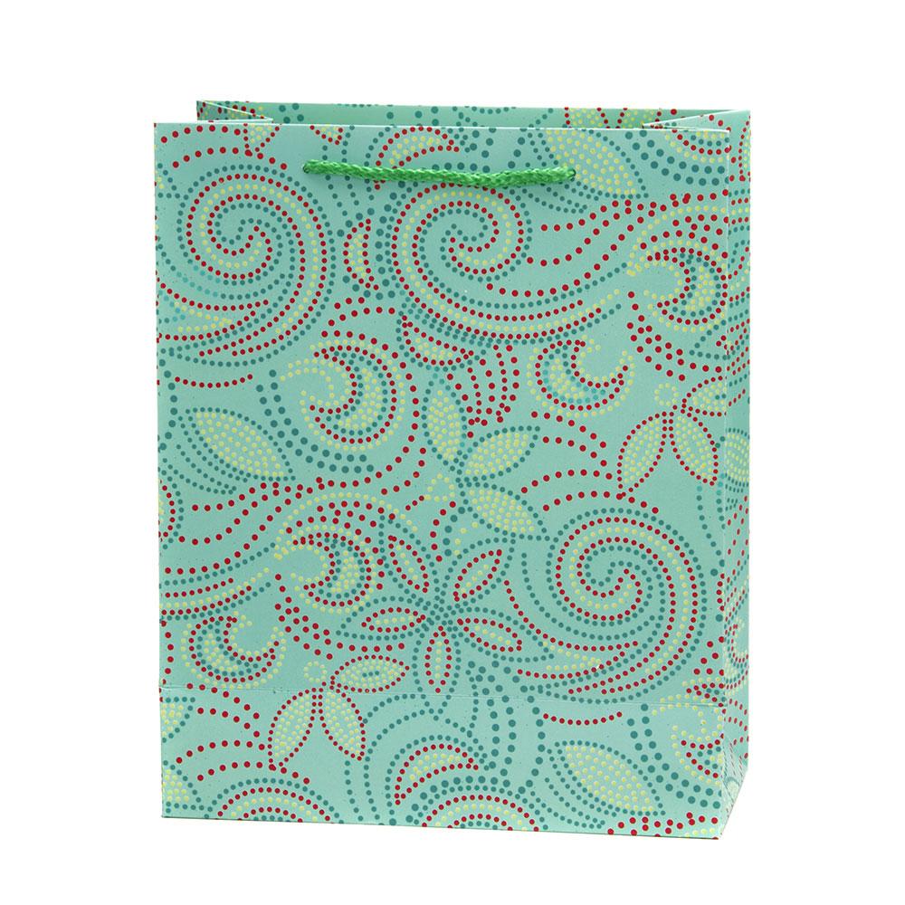 Пакет бумажный подарочный с кружевами, 26х32х10см, 8 дизайнов, высококачественная бумага арт.2006