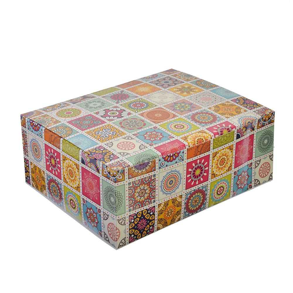 Коробка подарочная, складная, бумага, 21х26х10см, 6 дизайнов ГЦ, арт.06