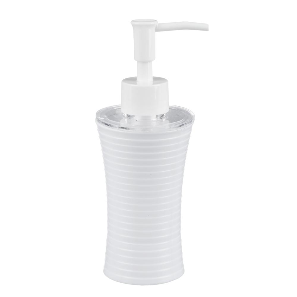 Дозатор для жидкого мыла полосатый, пластик, 2 цвета, VETTA