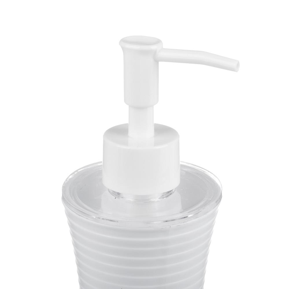 Дозатор для жидкого мыла VETTA  полосатый, пластик, 180мл,2 цвета