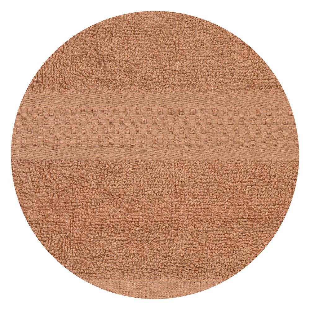 """Полотенце для лица махровое, хлопок, 50х90см, коричневое, """"Grace"""""""