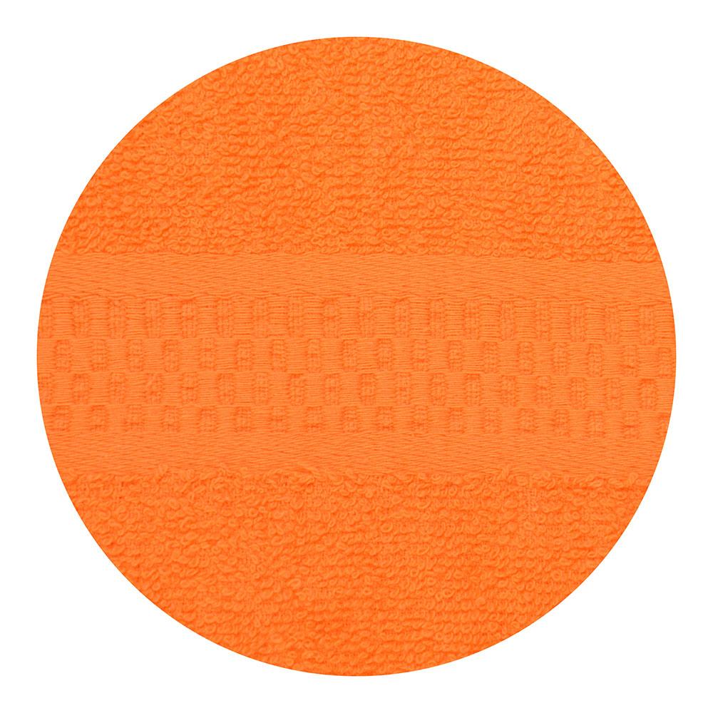 """Полотенце для лица махровое, хлопок, 50х90см, оранжевое, """"Grace"""""""