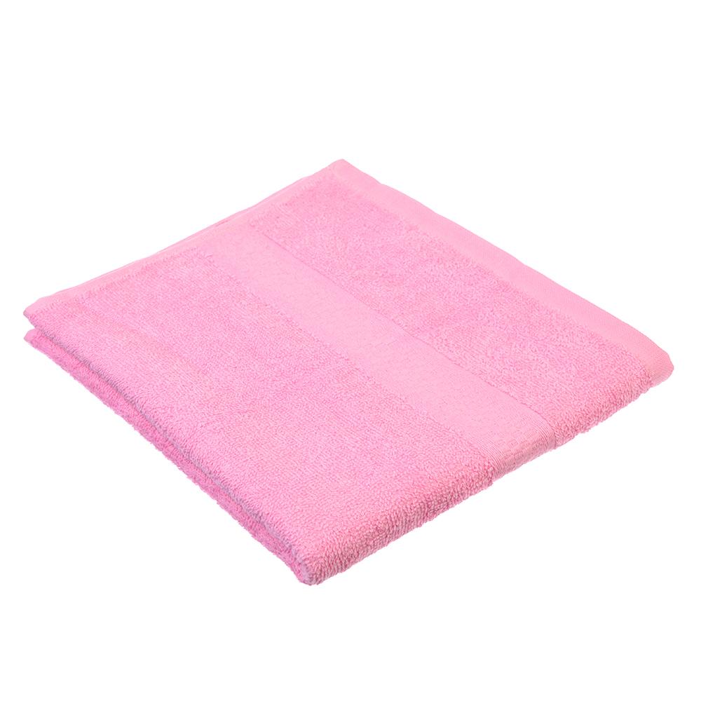 "Полотенце для лица махровое, хлопок, 50х90см, розовое, ""Grace"""