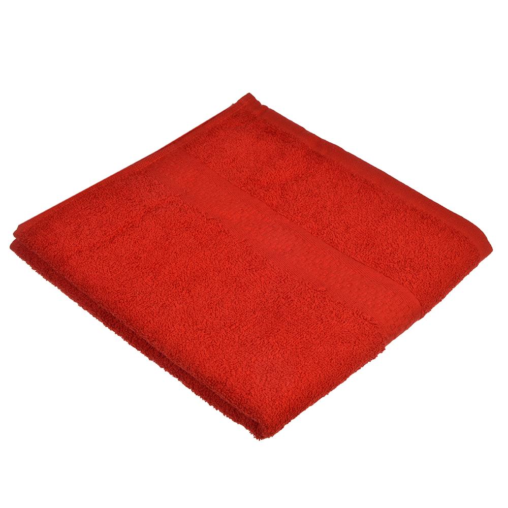 Полотенце для лица махровое красное 50х90см