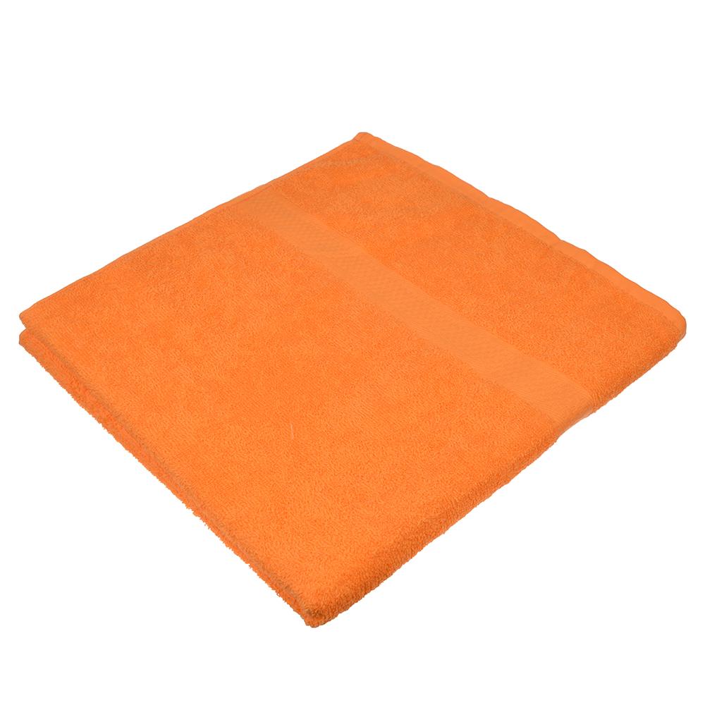 Полотенце банное махровое оранжевое 70х130см