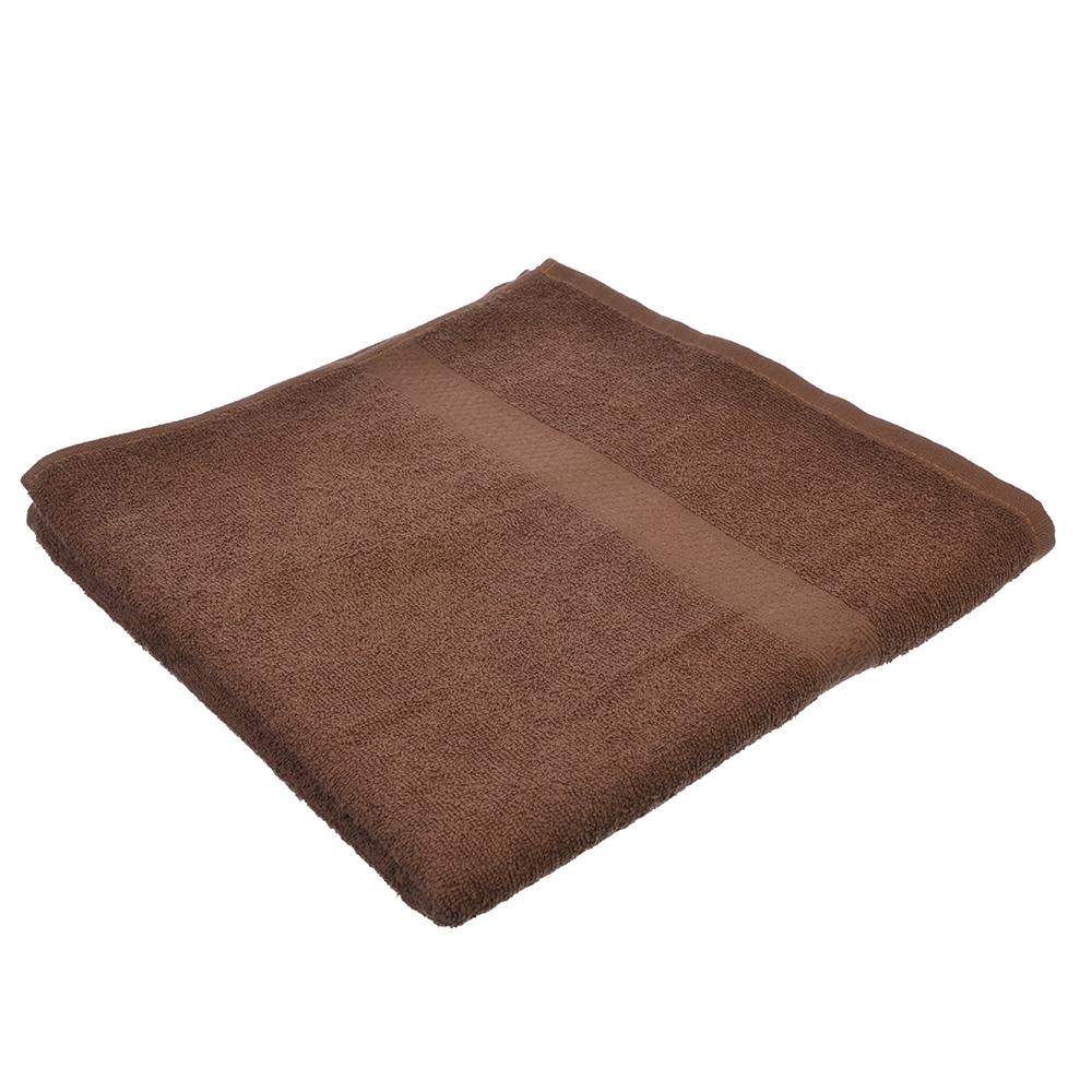 Полотенце банное махровое, 70х130см, коричневое