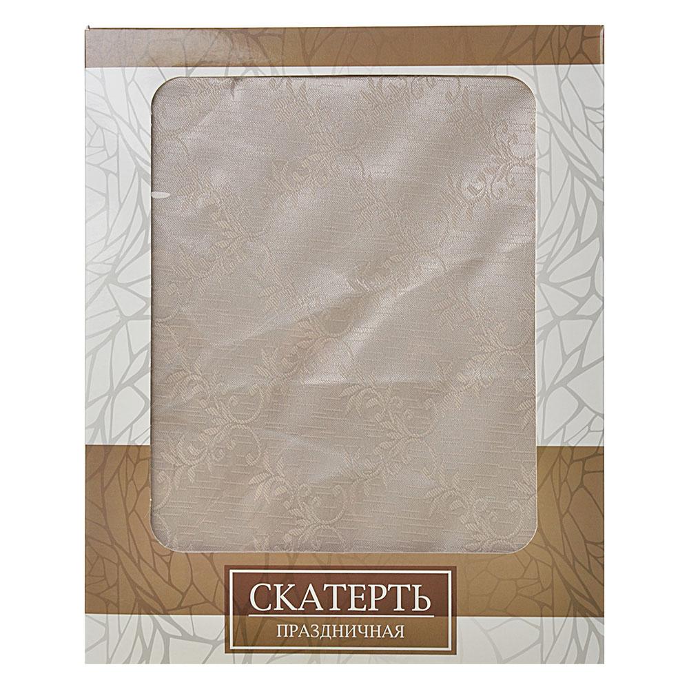 Скатерть на стол в подарочной упаковке, полиэстер, 140x180см