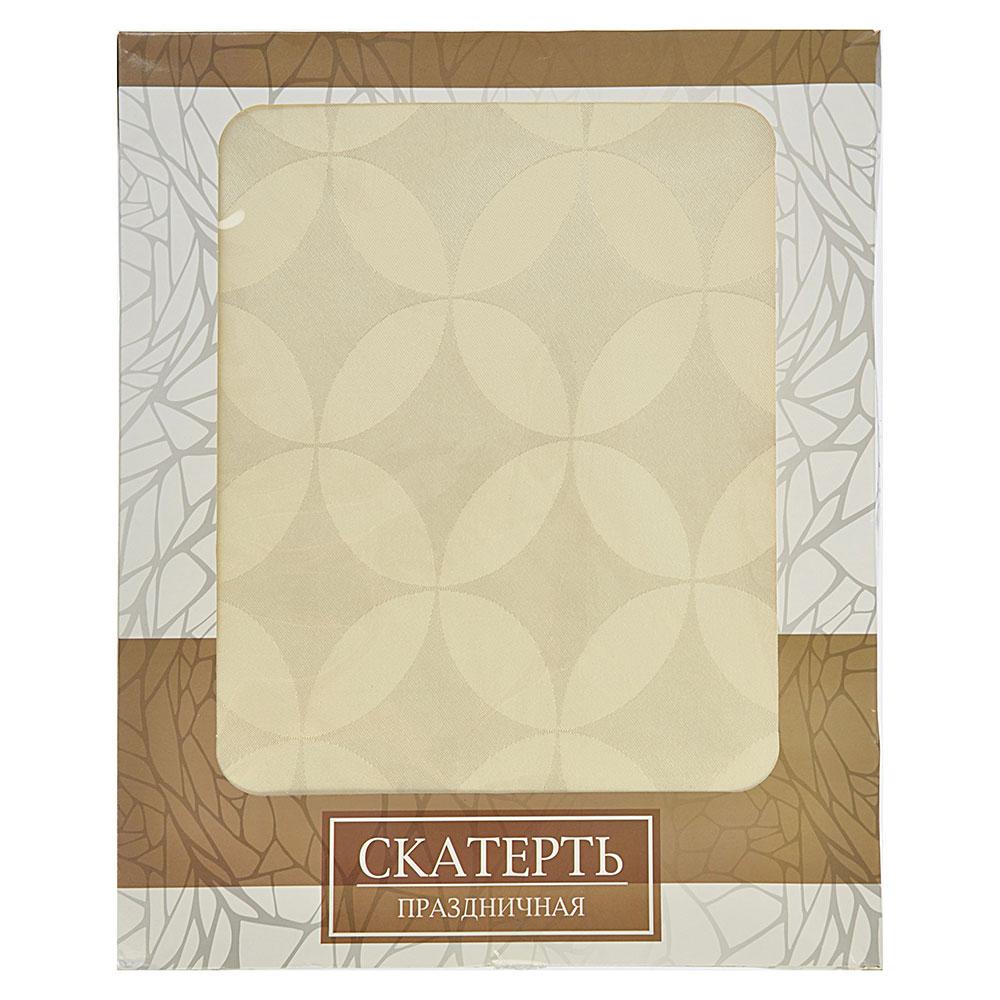 Скатерть на стол для кухни в подарочной упаковке, полиэстер, 140x220см