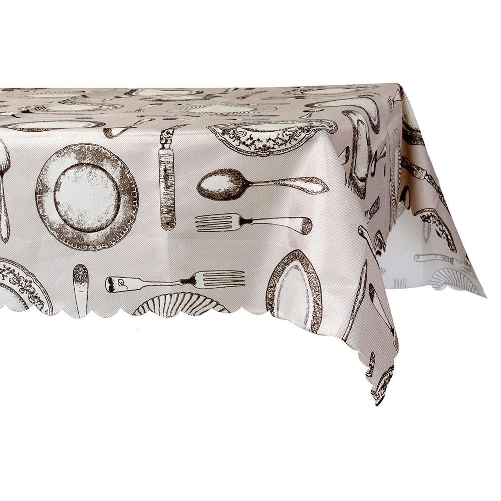 Скатерть на стол, полиэстер, 110x140см