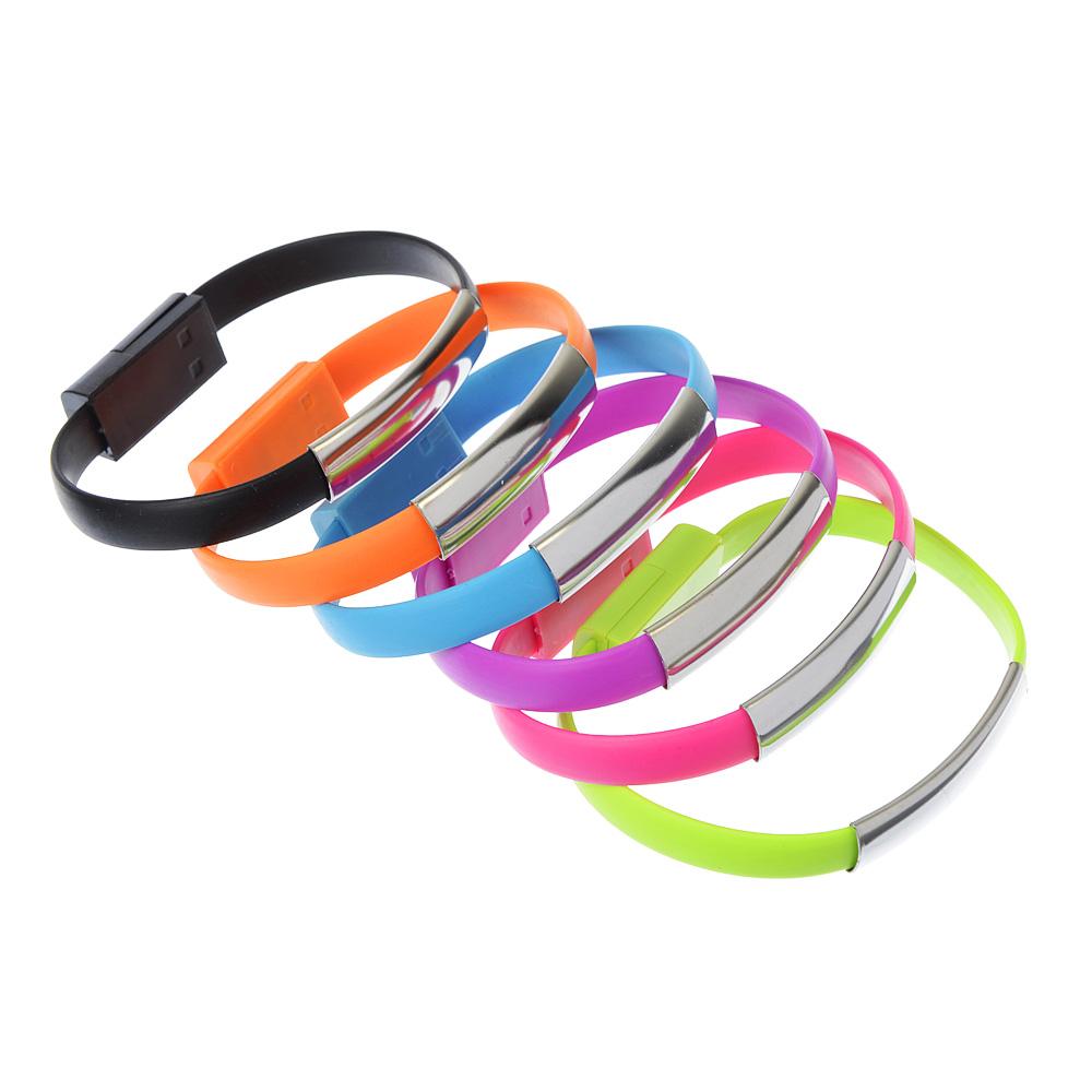 FORZA USB Шнур для зарядки с синхронизац. ПК., Браслет, 1А, 6 цветов , пластик, Эп