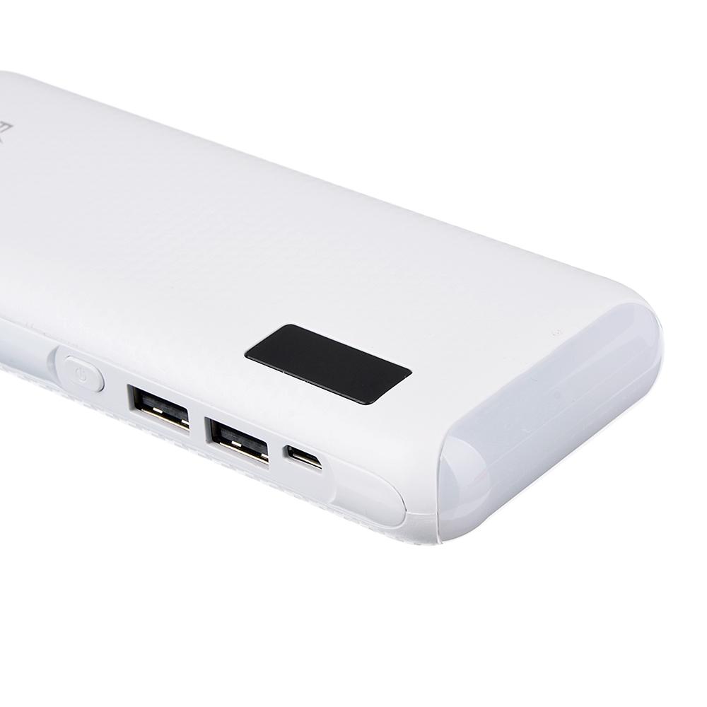 Аккумулятор мобильный FORZA 6000-8000 мАч, индикатор зарядки, фонарик, 1А, пластик, 4 цвета