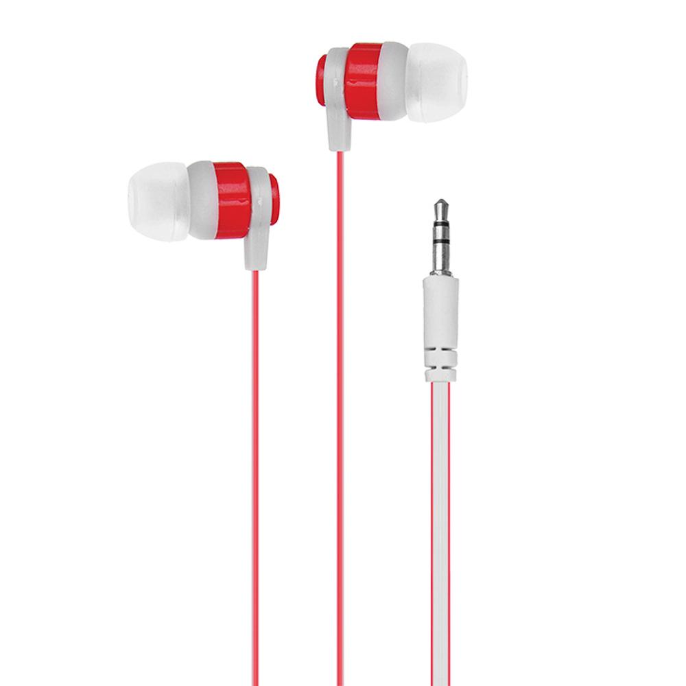Наушники вакуумные FORZA двухцветный провод, 3 цвета