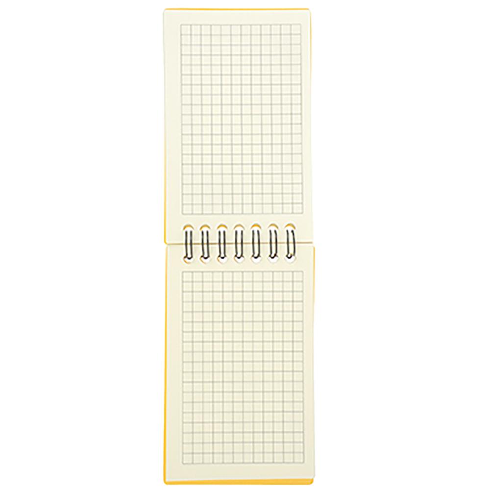 ClipStudio Блокнот А7 80л., офсет, пластиковая цветная обложка, спираль, в клетку, 4 цвета